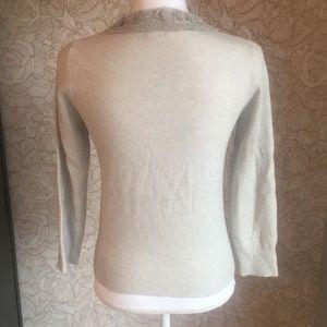J. Crew Sweaters - J. Crew wool cashmere embellished neckline sweater